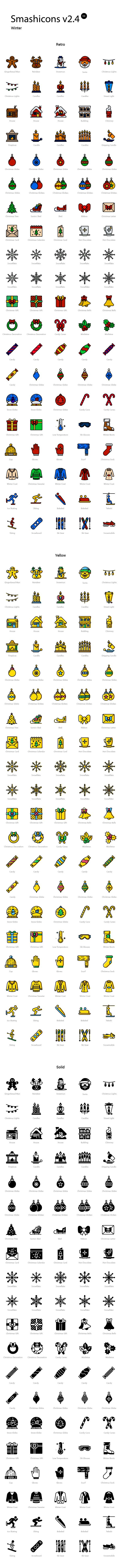 I'm glad to share with you today an original new set of 100 Winter themed icons available in 3 styles - retro, yellow and...
