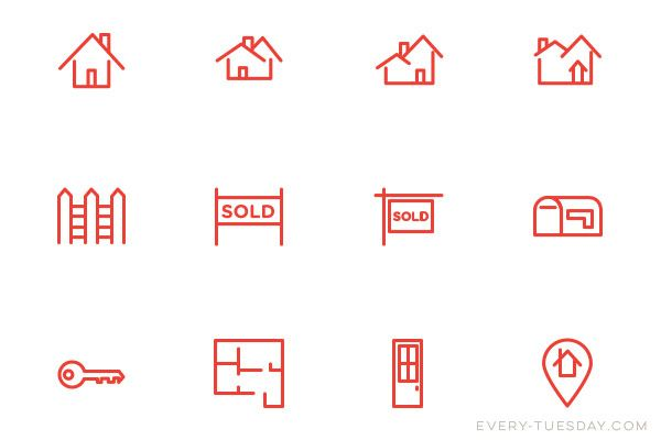 real estate icons preview