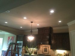 LED Recessed Can Light Installation – Customers like LED Can Lights in their kitchen. Also you can install these lights in your stairway. Call 817-424-2684.