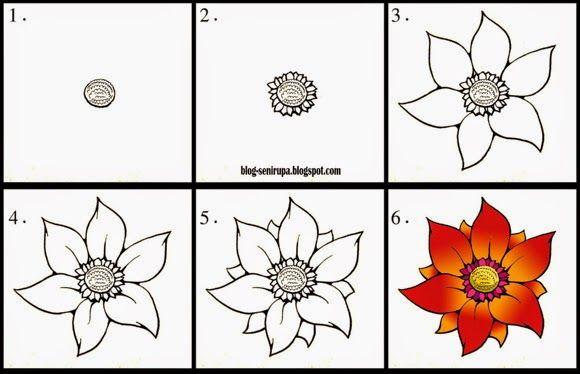 Cara Menggambar Flora Langkah Demi Langkah Seni Rupa Drawing
