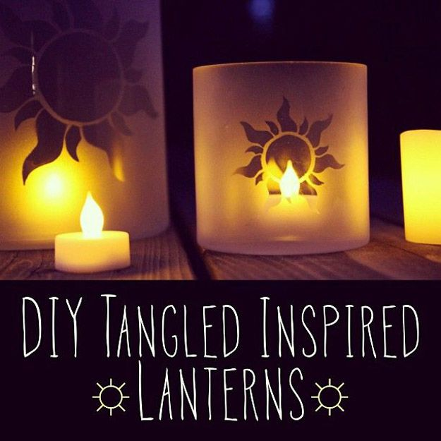 DIY Lantern- frosting spray paint and a clear glass candle vase