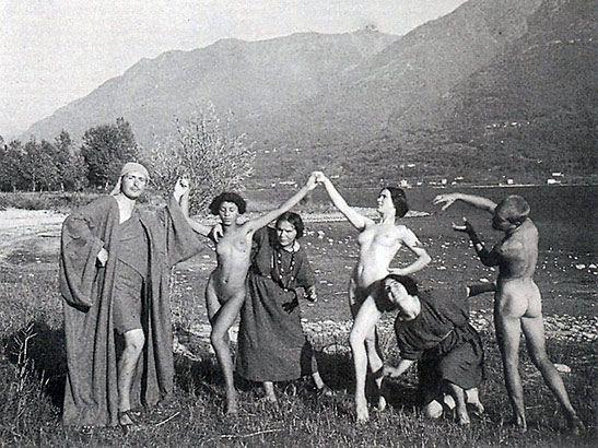 Residents of Monte Verità, decades ago