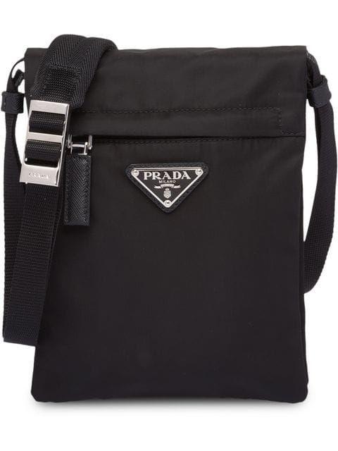 0bd7459e2 Prada Black Technical Fabric Shoulder Bag | Bags for manly men ...