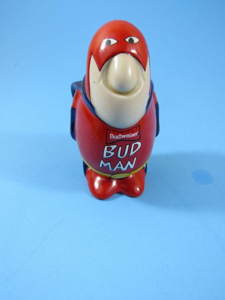 Vintage Genuine Bud Man Budweiser Salt Shaker Beer Lover Collectible Ceramarte Brazil Man Cave by TheFlyingHostess on Etsy https://www.etsy.com/listing/546418002/vintage-genuine-bud-man-budweiser-salt