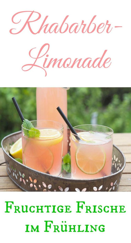 Diese leckere Rhabarber - Limonade ist im Thermomix oder anderen Zaubertöpfen blitzschnell hergestellt. Sehr lecker und sehr erfrischend an warmen Frühlingstagen.