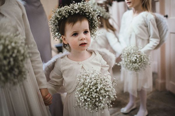 Lizzy's Nieces would look great with these!!!  Can we get them???? Gypsophila Flower Crowns And A Beautiful Bespoke Gown