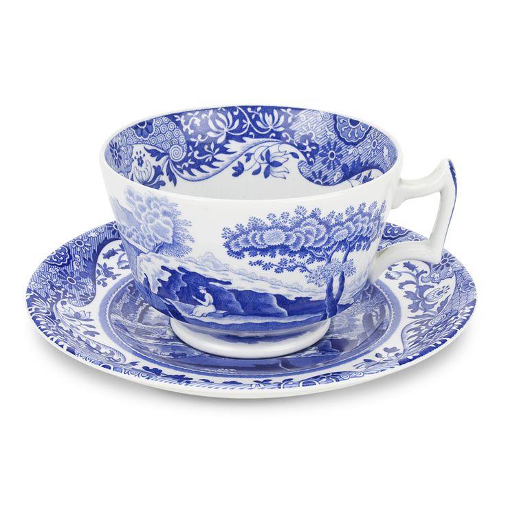 Blue+Italian+Kopp+med+Skål+280+ml,+Spode