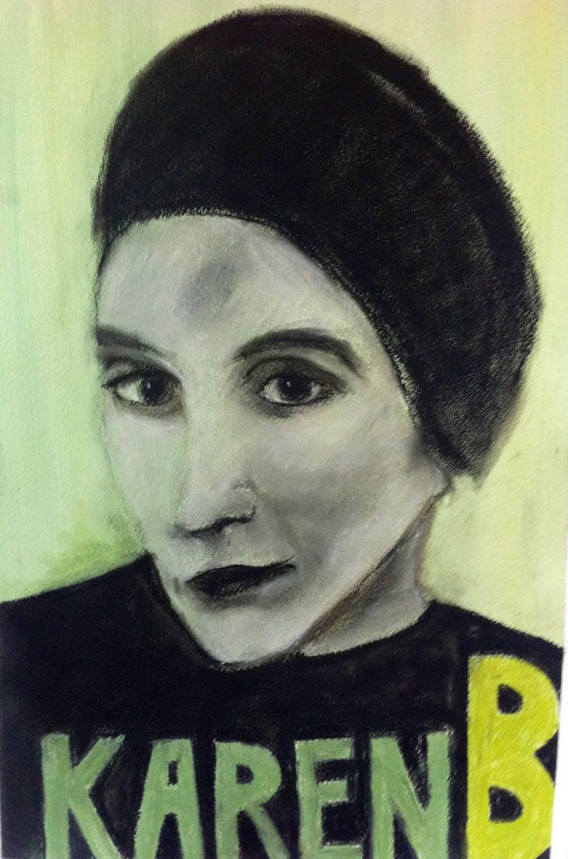 Mette Nissen Johansen Karen Blixen Pastels on paper