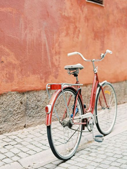 Stockholm Bicycle, Vanessa Jackman-peaches and reds