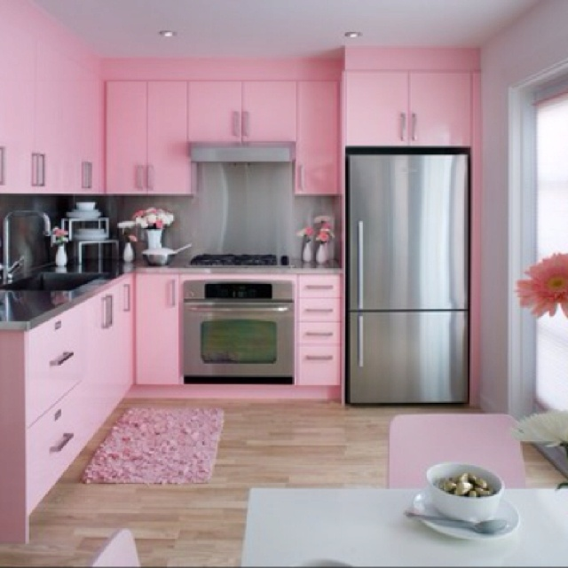 All Pink Kitchen 38 best the ultimate feminine kitchen images on pinterest | dream