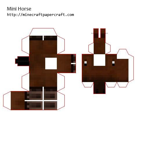 Minecraft Papercraft Black Horse Minecraft Papercraft Horse