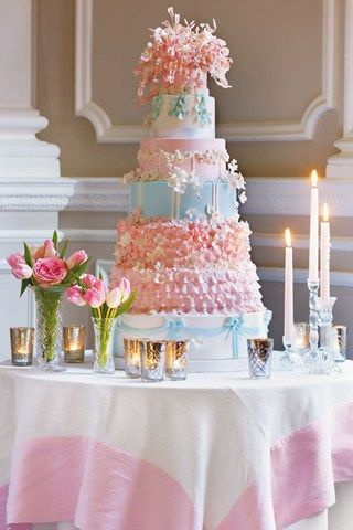 Power Pastel cake by Cakes by Krisanthi for Brides Magazine