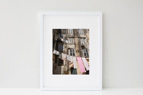 Laundry Room Wall Art  Corfu Greece Photography by VitaNostra