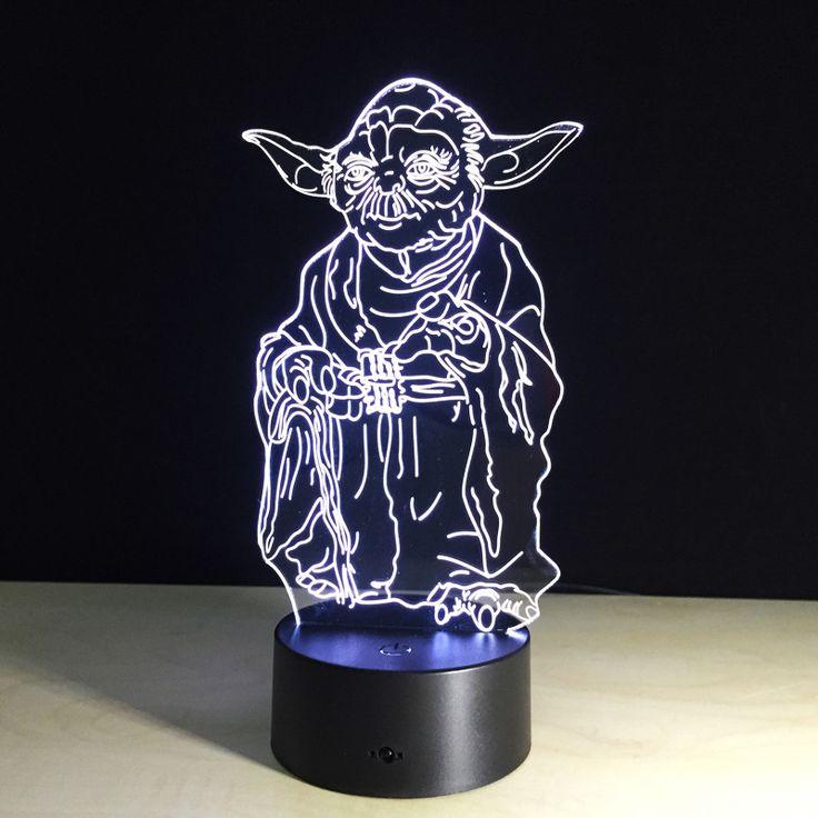 Star Wars Yoda Night LED //Price: $28.80 & FREE Shipping //     #starwars #swco #starwarsfan #starwarsday #starwarscosplay #starwarstoyfigs #starwarsfigures #starwarsdaily #starwarslego #starwarstoys #starwarsgate #starwarsmovie