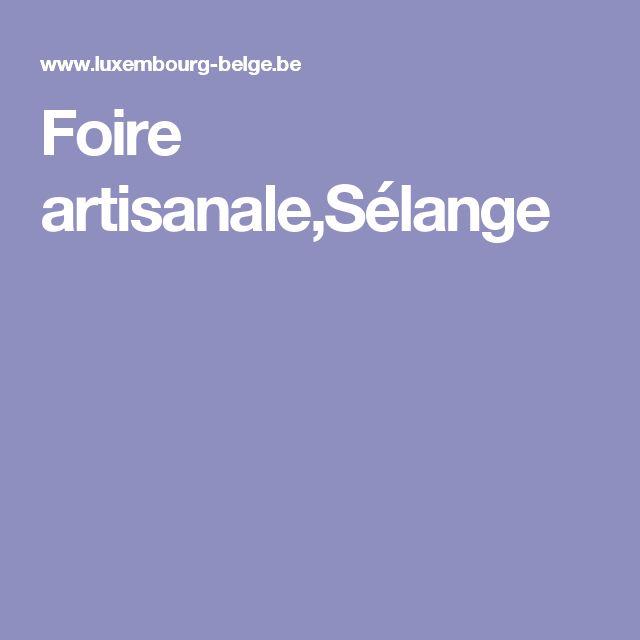 Foire artisanale,Sélange