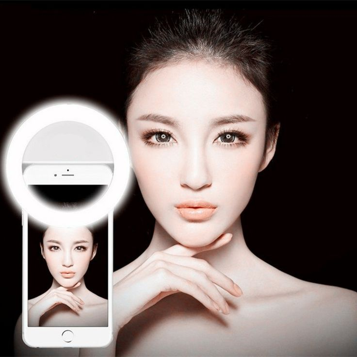 2017 universele led fotografie flitslicht up selfie lichtgevende lamp night smartphone led ring voor iphone 7/6 s/6/5 plus samsung