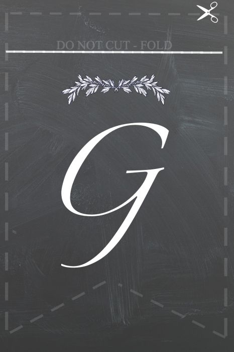 G for Gather - Free printables to make Gather Bunting for thanksgiving