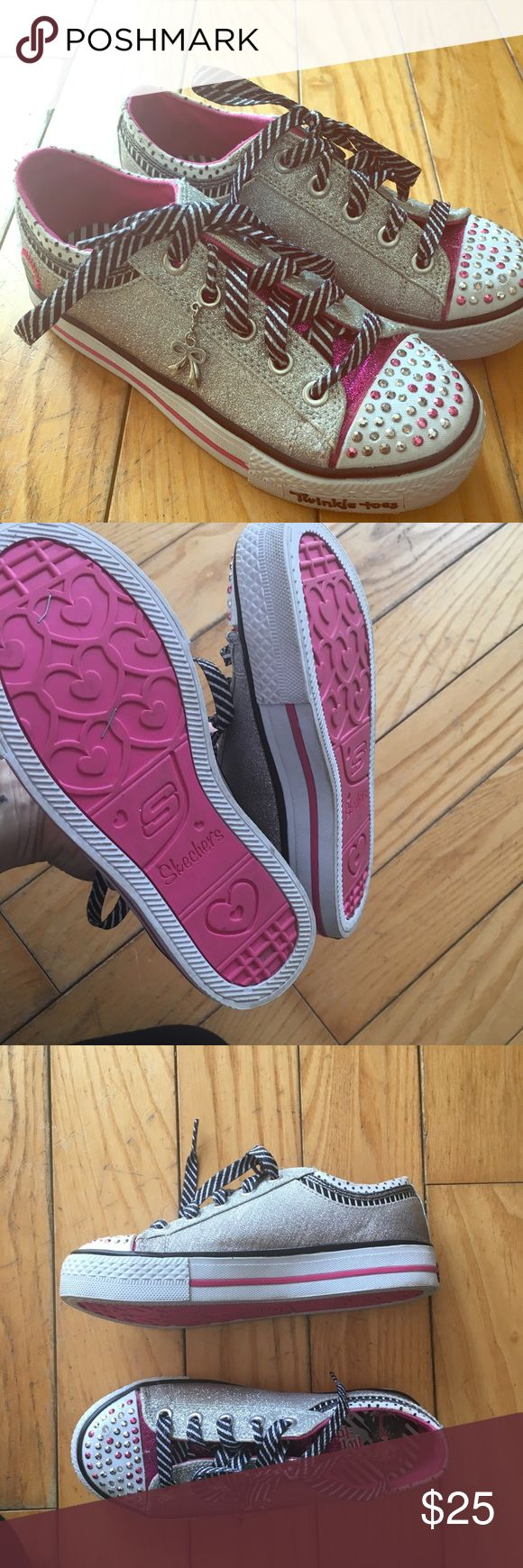 Girls twinkle toes Skechers Excellent condition.  You can have them twinkle or turn the lights off. Worn once Skechers Shoes Sneakers