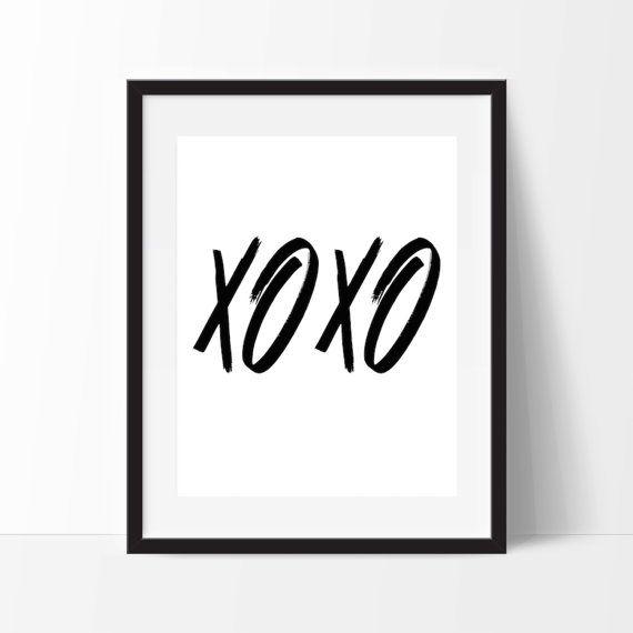 XOXO Wall art, Printable Art, Digital, Greeting, Poster, 8x10, 5x7, Instant Download, Chic Art