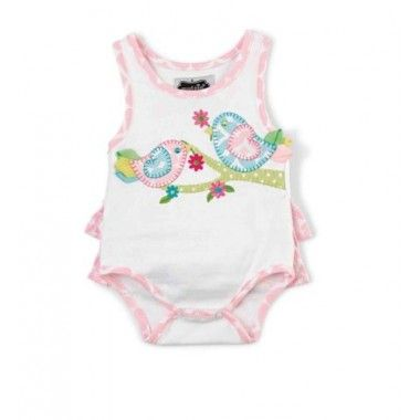 Mud Pie- Little Chick Crawler  baby girl clothes