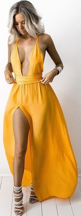 #summer #feminine #outfits | Silk Multiway Gown Tangerine