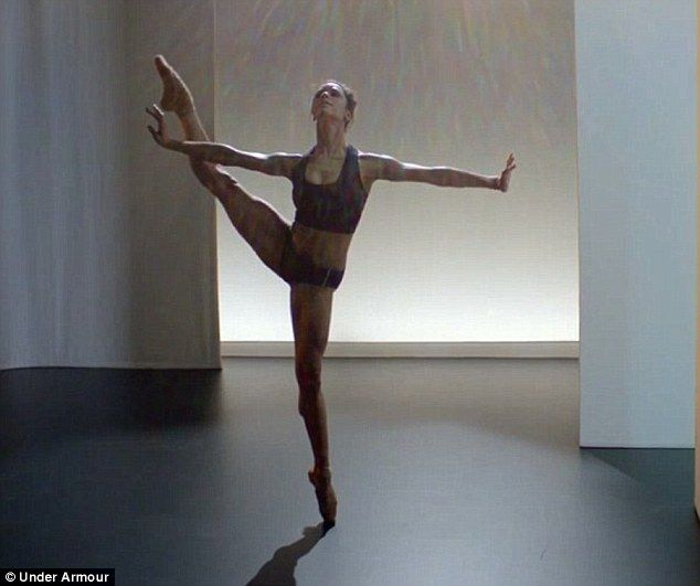 Girl power: Gisele follows in the footsteps of professional ballerina Misty Copeland, who ...