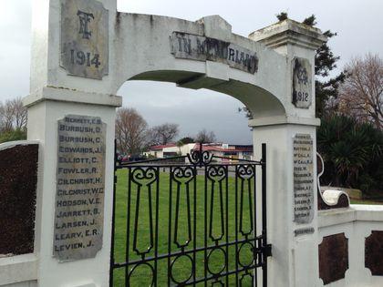 Terrece End School Memorial Arch - Historypin | Walking with an Anzac
