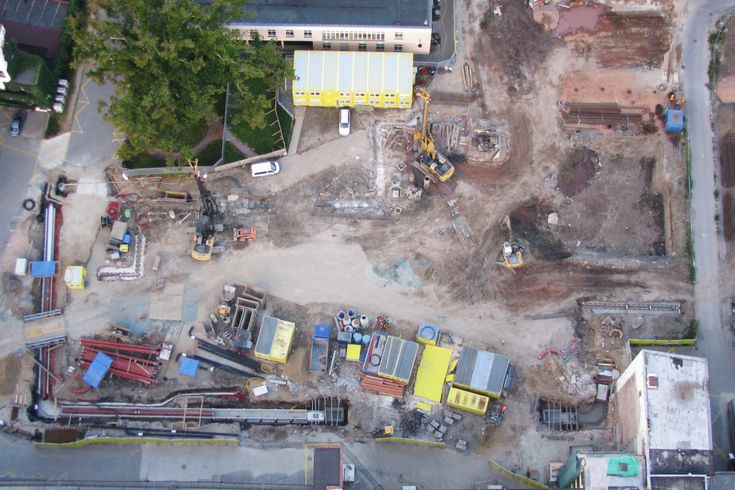 construction from sky