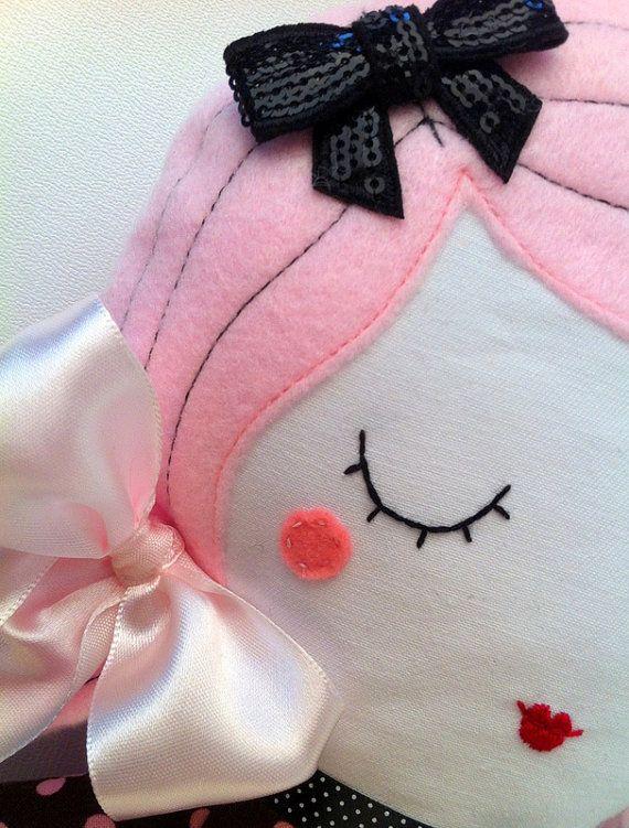 Fashion Cloth rag doll best gift for girls Handmade by HolaLotta