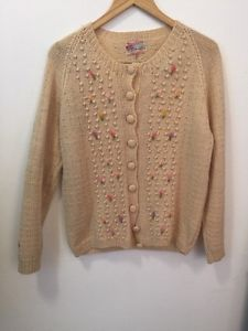Vintage 1950's Knit Cardigan 100% wool Exclusively for Smith's   | eBay