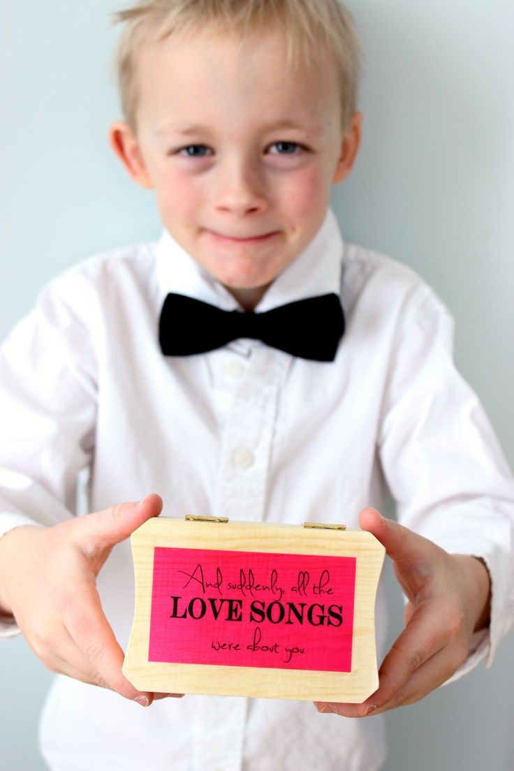 Come and see all the modern ring boxes available at Little Wee Shop. Having a music themed wedding?  This song lyric ring box would be perfect!  Visit Little Wee Shops blog for free wedding printables too. #ringbox  www.littleweeshop.etsy.com