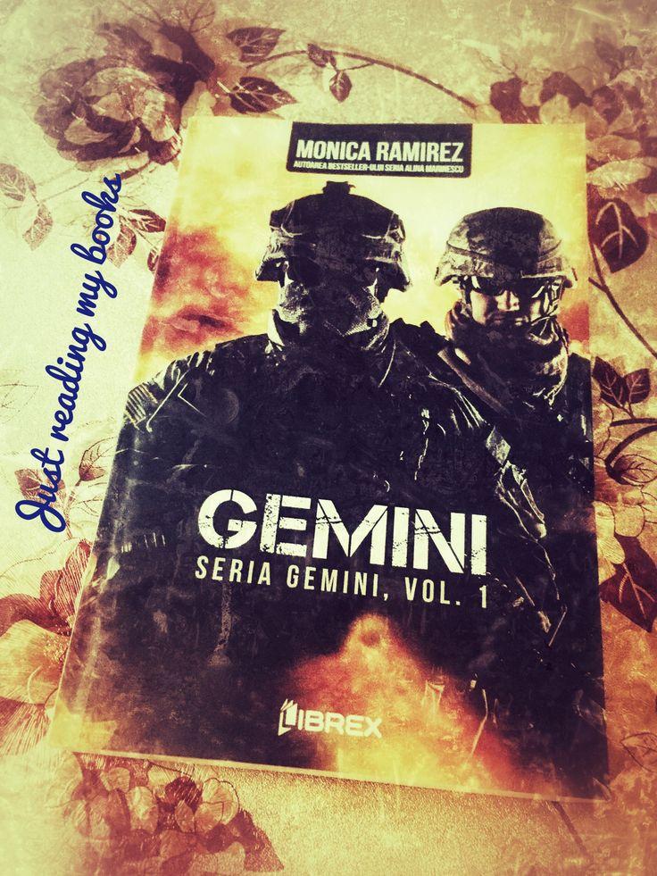 """Titlul: Gemini Autoare: Monica Ramirez Seria: Gemini, volumul 1 Editura: Librex Publishing Anul apariției: 2018 Număr de pagini: 308 """"Într-o lume a secretelor și-a duplicității, răzbunarea este un lux pe care nimeni nu și-l poate permite... Într-o lume a umbrelor, răzbunarea poate însemna diferența dintre viață și moarte… Un atac terrorist la Ambasada Statelor Unite…"""