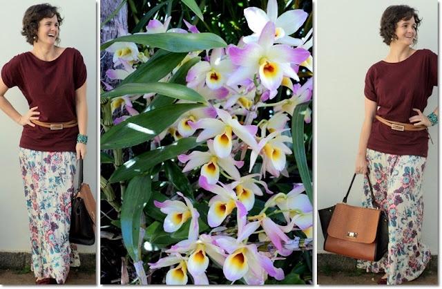 blog vitrine @ugust@ LOOKS | por leila diniz: Burgundy(zei) + Flores + Bolsa nova com aba (amei!) + Msg de DEUS: para que sofrer sozinho?