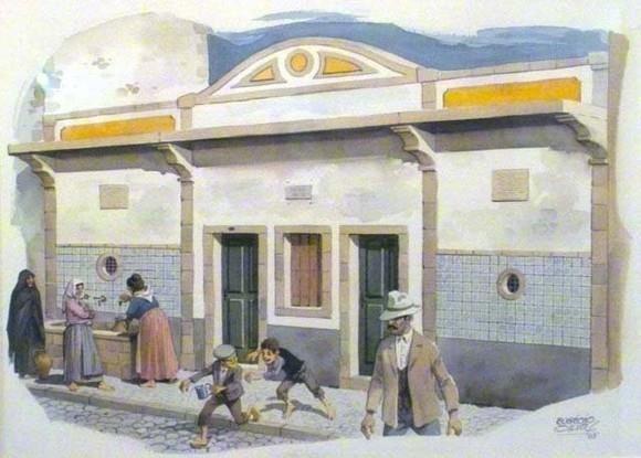 Poço dos 16  Autor: Artista Barreirense Eugénio da Silva.