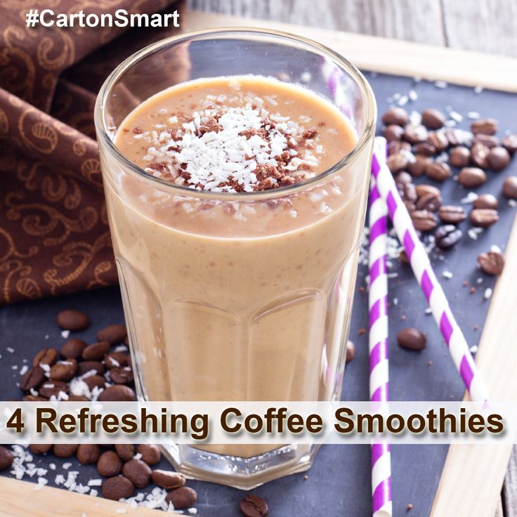 Refreshing Coffee Smoothie Recipes #CartonSmart