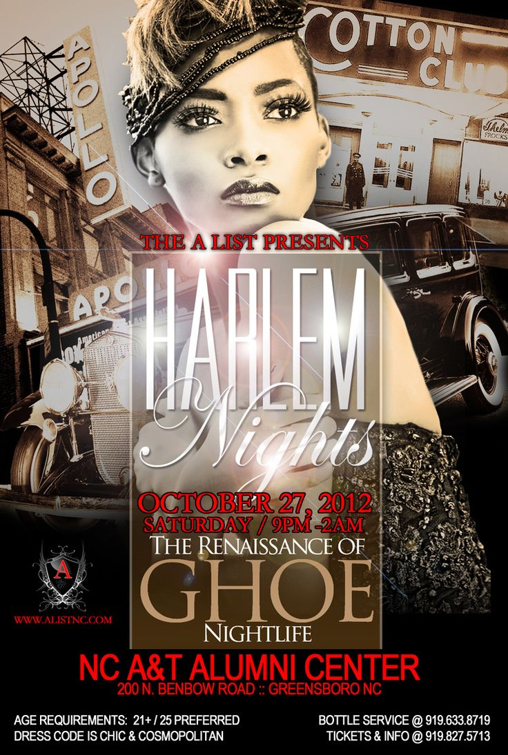 harlem nights party invitation - Google Search