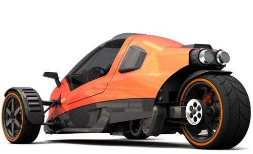 Hawk Zero S, Trike, Carlos Fuentes, Futuristic Vehicle