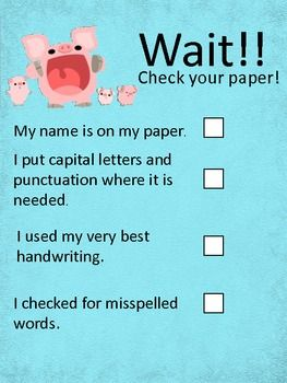 Check Your Paper! Freebie!!