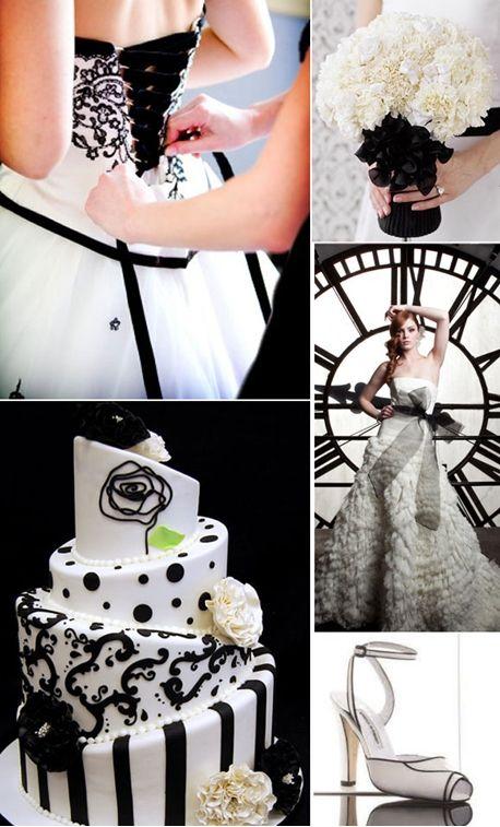 Vestidos de Novia, Peinados y todo para tu boda | Blog de Novios: Boda en blanco y negro