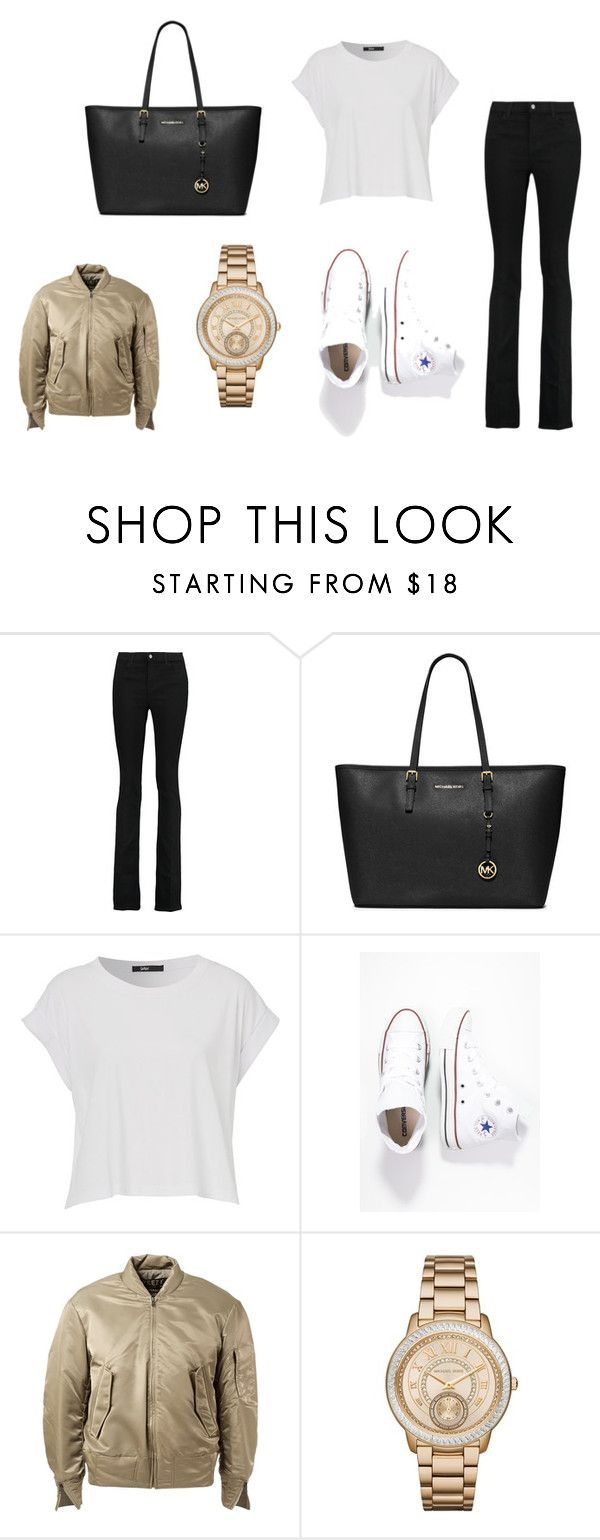 """""""outfit #6"""" by mariachun on Polyvore featuring J Brand, MICHAEL Michael Kors, Converse and adidas Originals"""