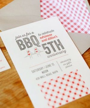 Fifth anniversary party ideas