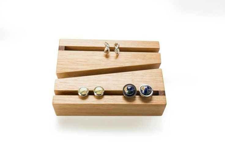 Drift- cufflink holders (pair) Victorian ash, walnut detail available at the big design market Melbourne and Sydney 2016 from Robyn Wood studio