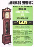 Emperor 300 Grandfather Clock Kit 1972 Ad Picture