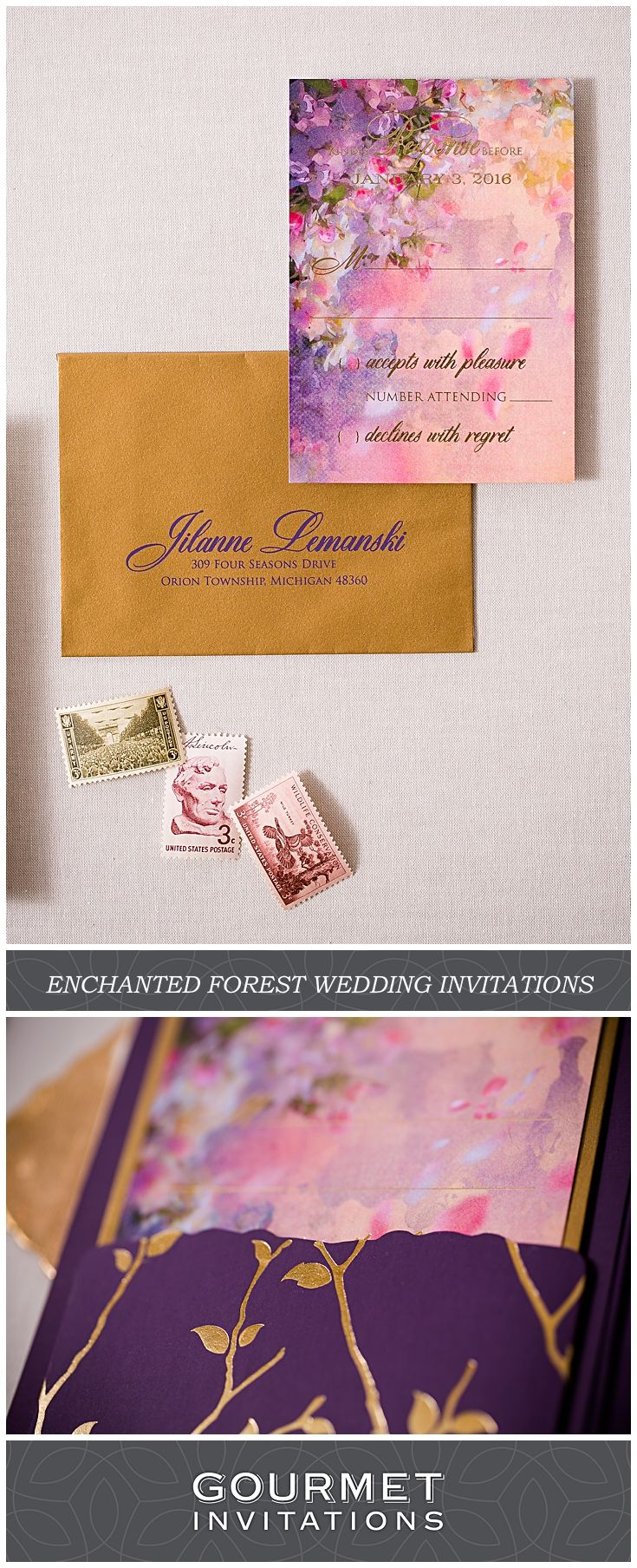 Enchanted Forest Invitations a Northern Michigan