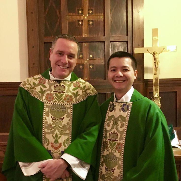 Paulist Fr. Dat Tran (right) with Paulist Fr. Dave Dwyer (left