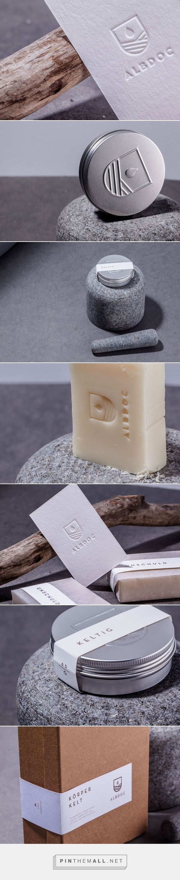 Art direction branding and packaging for Albdoc on Behance by HOCHBURG Design Stuttgart, Germany curated by Packaging Diva PD. Simplicity in packaging at it's finest.