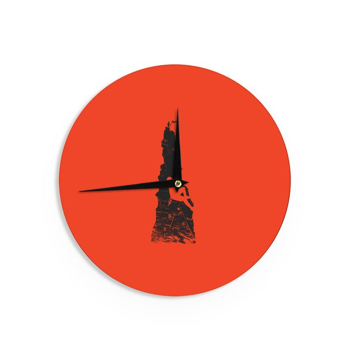 "BarmalisiRTB ""Climbing"" Black Red Wall Clock"