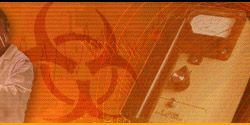 Princeton University paint safety, visual arts (biohazard symbol, geiger counter)