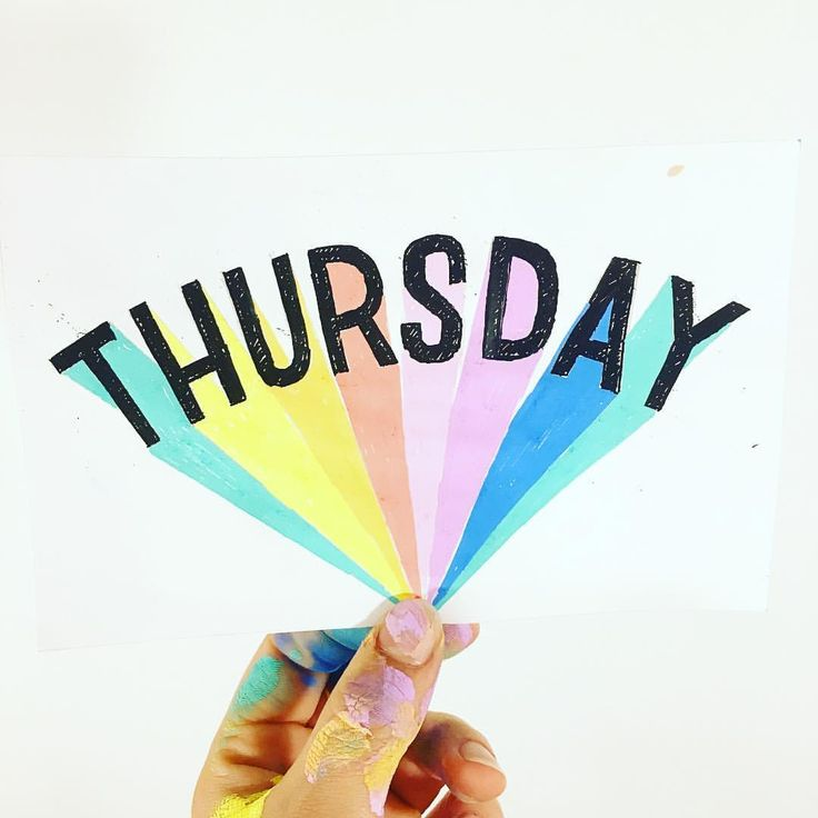 """@alexkpete on Instagram: """"thursday=my favorite.  it always has been, and i've never known why. ♀️ #handtype #handlettering…"""""""