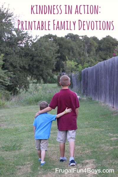 Kindness in Action: Devotions for Families on Loving God and Loving People - Frugal Fun For Boys